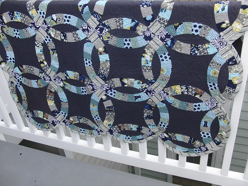 Finished Double Wedding Ring Quilt (Front) - Modern Meadow & Hope Valley
