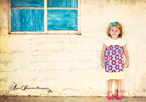 Writing on the wall-Vintage little girl