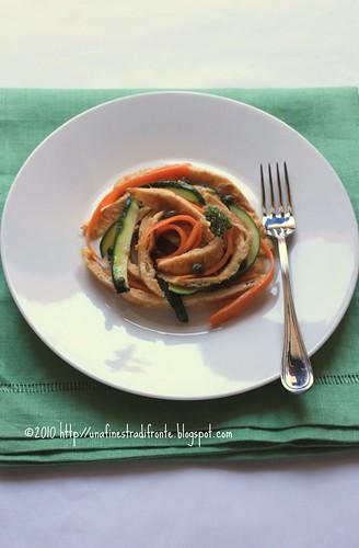 Tagliatelle di frittata e verdure