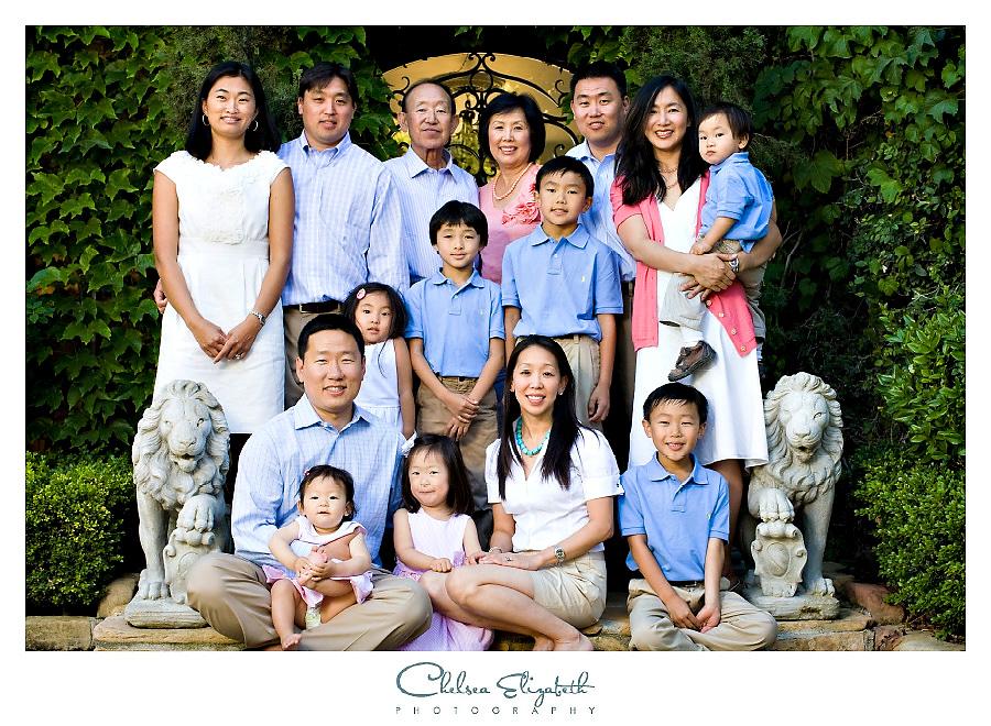 Santa Barbara Extended family portrait photography