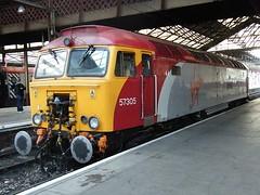 57305 Crewe 031009 (Dan86401) Tags: 57305 class 57 573 gm generalmotors bodysnatcher vt virgintrains thunderbird brush crewe stabled class57