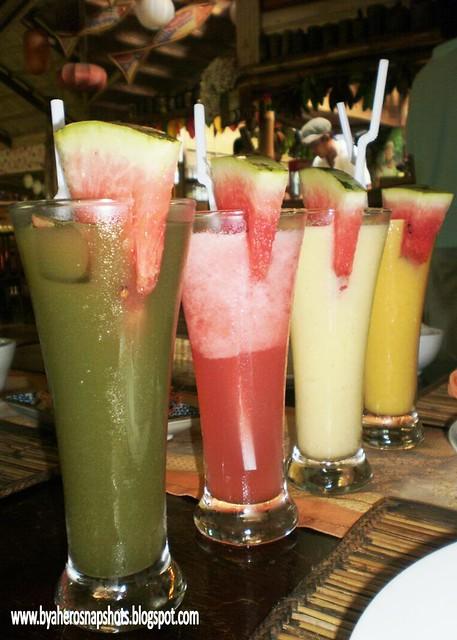 Fruit shakes at Ka Lui Restaurant in Palawan