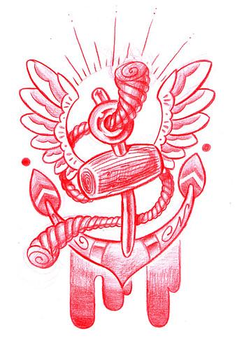 New school tattoo flash new school anchor tattoo flash