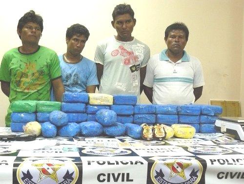 Cocaína apreendida em Santarém - 110 quilos