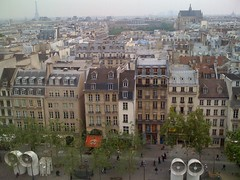 Blick vom Centre Pompidou auf Paris