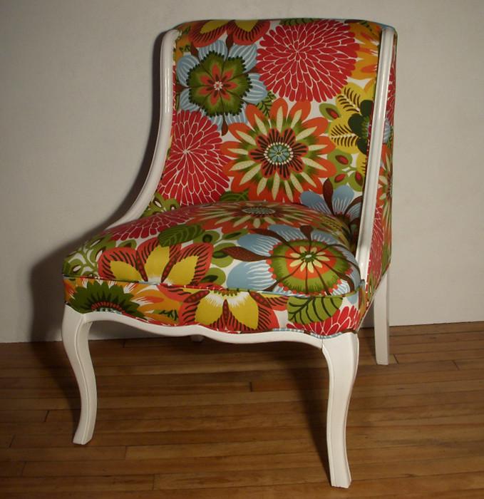 Robert Allen Pinata Vintage Slipper Chair