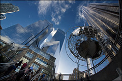 USA - New York City - Columbus Circle (Lo Scorpione) Tags: nyc usa newyork up station america skyscraper subway globe metro earth unitedstatesofamerica northamerica columbuscircle sigma1020mm trumpinternationalhotelandtower andromeda50