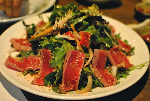 Seared Ahi Tuna Salad W: Maraschino Cherry Dressing