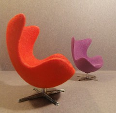 Arne Jacobsen Egg chairs by Minimii and Brio