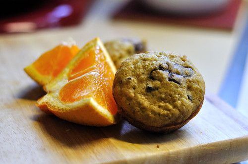 Cherry, Chocolate and Orange Muffins