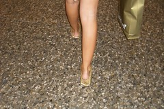 heelpopping in gold ballet flats, ballerinas (superc0123) Tags: sexylegs ballerinas balletflats heelpopping