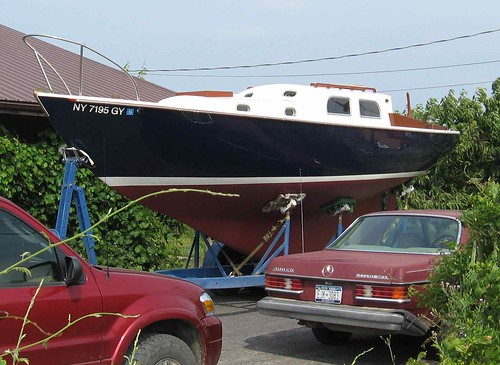 Eric and Tina's boat on trailer