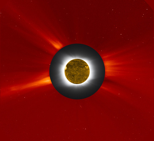 NASA's Solar Eclipse Composite Image July 11, 2010