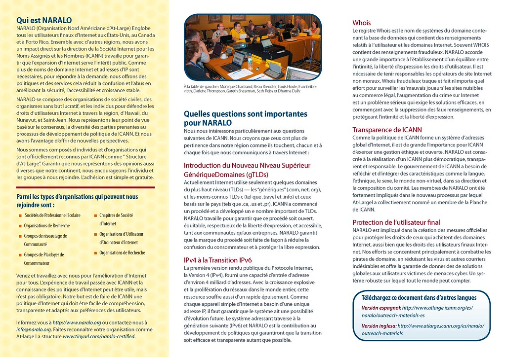 Brochure NARALO 2010 tri-plié - 2