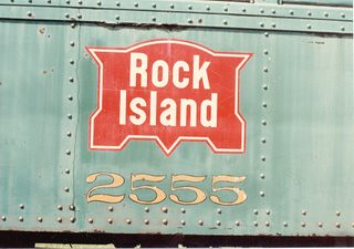 Old Chicago, Rock Island & Pacific Railroad logo. The Illinois Railway Museum. Union Illinois. September 1984. by Eddie from Chicago