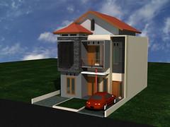 Desain Rumah Sakura Regensi Jatiasih  by Indograha Arsitama Desain & Build