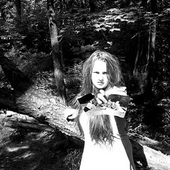 Day 186/365 Theres No Such Thing as a Perfect Family (nikki chicoine.) Tags: family blackandwhite selfportrait tree contrast forest hair hope sad fear angry divorce depression mad hatred familyisntperfect