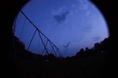 ghosts (staciisays) Tags: longexposure children vermont dusk swings fisheye
