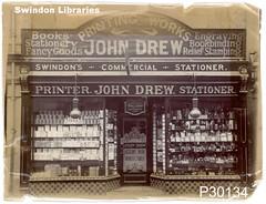 1910s: John Drew, 51 Bridge Street, Swindon (Local Studies, Swindon Central Library) Tags: shop printer swindon drew 1910s wiltshire bridgestreet stationer johndrew p30134