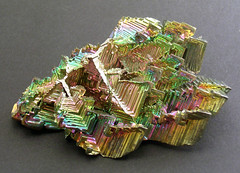 lab grown bismuth (Willowleaf Minerals) Tags: rainbow crystal mineral bismuth