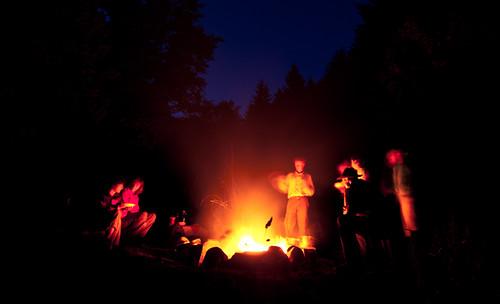 Lagerfeuer im Naturcamp