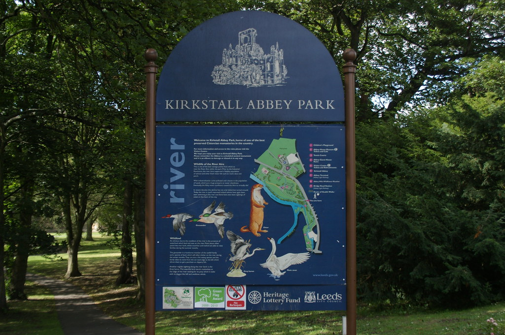 kirkstall abbey park sign