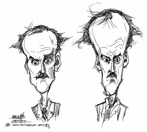 quick sketch study of John Cleese