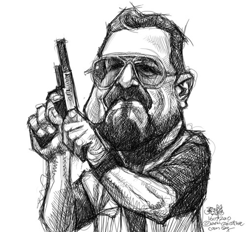 digital sketch of The Big Lebowski - 3
