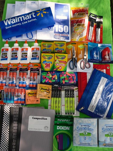 We purchased supplies for back to school. #BagItForward