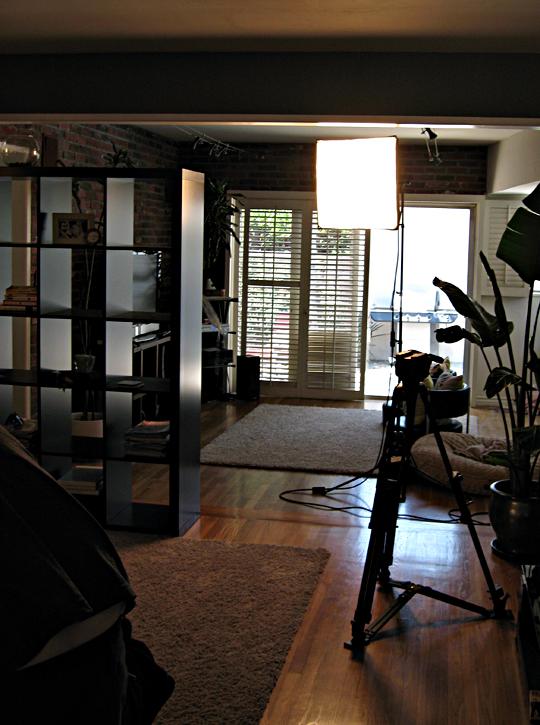 living room+lights+camera