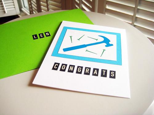 Tool & Gadget shower card