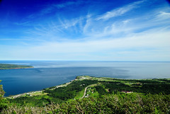 Summit of MT Saint Anne in Perc 1100 Feet Up (coopdog) Tags: camping wallpaper coast east pro whale jol gaspe perce gasp perc mikedcooper