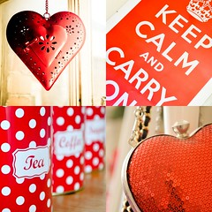 red things in my house (Jennie Filer Photography) Tags: red house home utensils coffee collage poster hearts bedroom nikon pretty candle flat tea interior letters july retro sugar polkadots sequins handbag candleholder tins shabbychic d90 keepcalm project365 keepcalmandcarryon nikond90 cmwdred cmwdweeklywinner