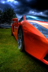 Lamborghini Gallardo / HDR / Supercar / Italian / Automobile / Orange / Clouds / Fast / Performance / Kyle Bailey / Canon (Kyle Bailey - Da Big Cheeze) Tags: orange canon italian lamborghini supercar hdr highdynamicrange gallardo sigma1022mm canon40d kylebailey rookiephoto dabigcheeze