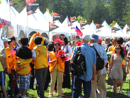 Crowd at International Booth and Food Fair, Surrey Fusion Festival 2010 Multicultural and Diversity Celebration in Greater Vancouver