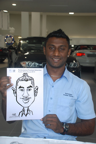 Caricature live sketching for Performance Premium Selection BMW - Day 3 - 4
