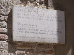 Romeo's House, Via Arche Scaligere, Verona - Quote from Shakespeare's Romeo and Juliet - Act I Scene I (ell brown) Tags: italy brick quote shakespeare unescoworldheritagesite unesco worldheritagesite verona romeoandjuliet williamshakespeare veneto northernitaly montagues badcondition medievalbuilding scaligeri viaarchescaligere romeoshouse houseofmontecchi romeosfamily originalbattlements romeoandjulietactiscenei