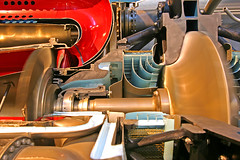 Jet Engine Cutaway Model (stormdog42) Tags: closeup virginia smithsonian model unitedstates display jet engine machinery nationalairandspacemuseum cutaway stevenfudvarhazycenter