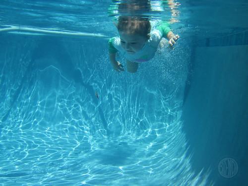 diving mermaid