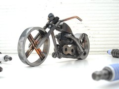 Triumph Chopper Sculpture