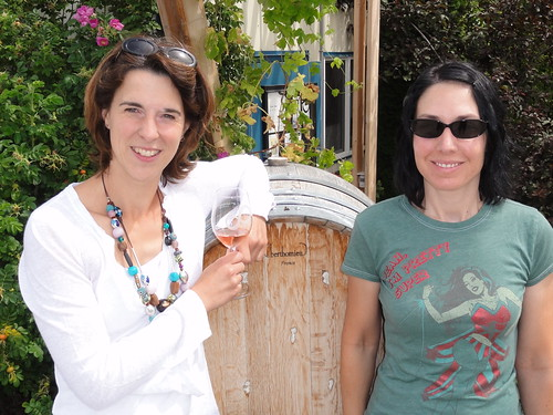 8th Generation Winery proprietor Stefanie Schales with Stacey