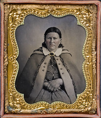 [Cynthia Ann Parker] (SMU Central University Libraries) Tags: portrait woman women texas cloak seated tintypes