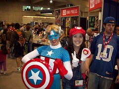 Gender-Bending Mario and Captain America (pwopa wok n woll) Tags: girl america cosplay steve nintendo july mario captain rogers marvel comiccon luigi avengers 2010 supermariobros sandiegocomiccon