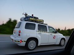 Who you gonna call? (Pacific Lime (Catching Up!)) Tags: party movie orlando movement highway display florida exhibition 1984 vehicle pt cruiser ghostbusters chaser