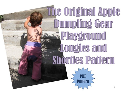 The Original Apple Dumpling Gear Playground Longies and Shorties Pattern