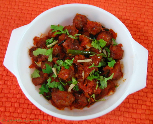 Spicy Soya chunks