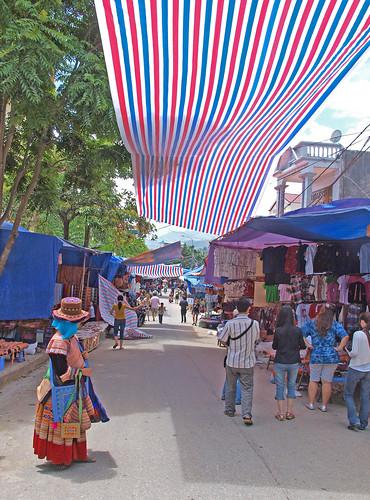 北河市場的觀光客區