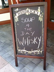Soup of the day: whisky!