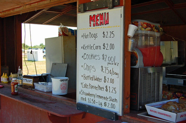 Snack Bar at Butlers Orchard