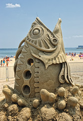 Revere Beach National Sand Sculpting Festival (ConstantineD) Tags: sculpture boston ma sand nikon massachusetts competition sandsculpture revere 2010 reverebeach scultping sandsculpting d700 nikond700 nationalsandsculptingfestival lpstreetart